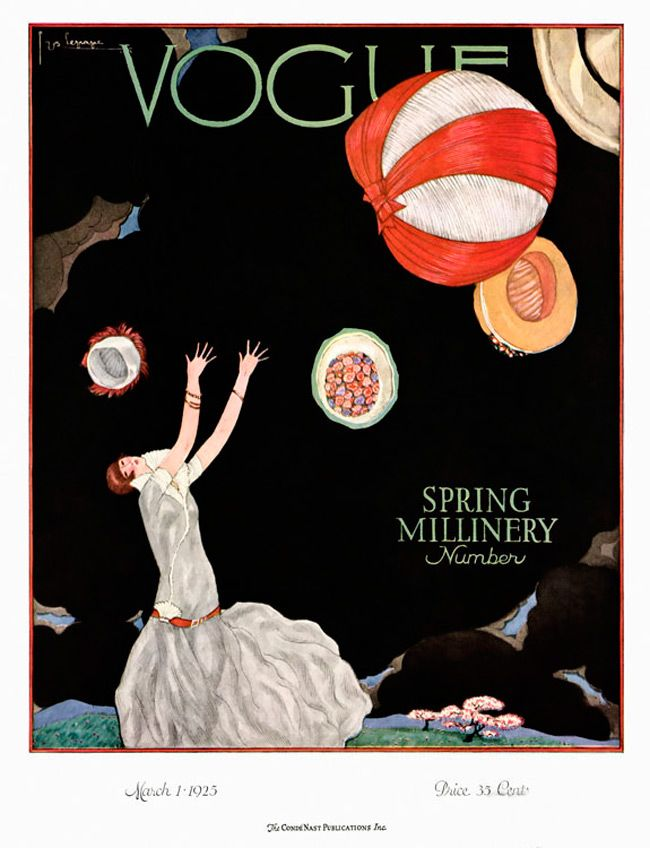 Vogue Magazine Cover March 1925 by Georges Lepape