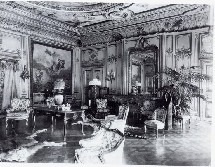Drawing room in the W.K. and Alva Vanderbilt mansion at 660 Fifth Avenue.