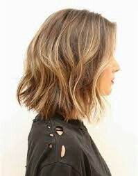 Razor cut ends, beach waves, slightly longer in back bob