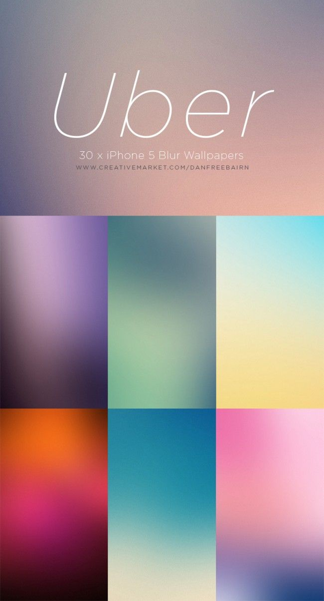 Uber iPhone 5 Blur Wallpaper Set
