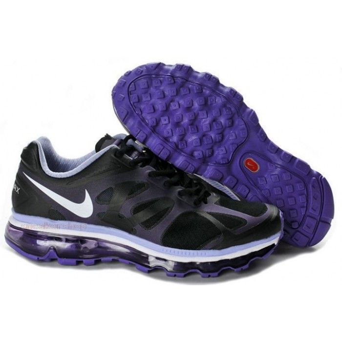 nike air max 2012 women shoes black purple