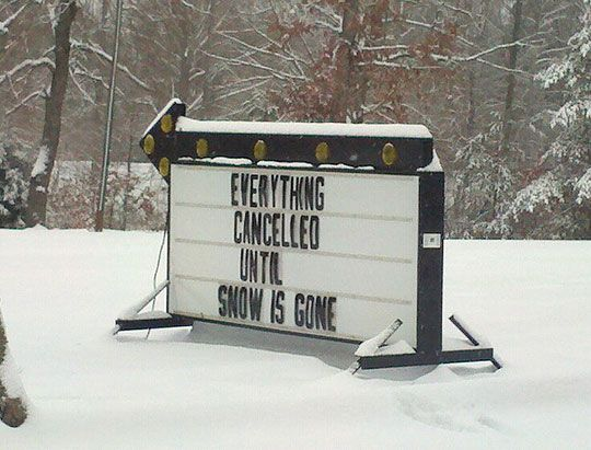 Lol sad but true....What happens when it snows in the south