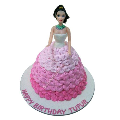 Barbie Doll, Princess Barbie Doll cake free home delivery in Faridabad, Delhi, Gurgaon, and Noida.