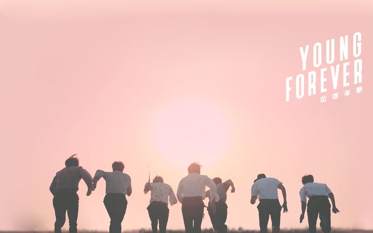 young forever (pink) desktop wallpapers in 2020 Bts