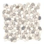 Jeffrey Court River Rock Medley 12 in. x 12 in. x 8 mm Travertine Mosaic Floor/Wall Tile 99035 at The Home Depot - Mobile