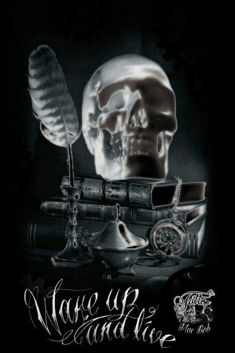 Skull skull art gothic dark