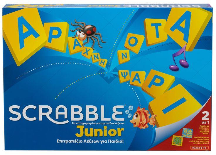 Mattel Scrabble Junior (In Greek) (Y9672)  Manufacturer: Mattel Barcode: 746775261368 Enarxis Code: 016472 #toys #Mattel #Scrabble #boardgames