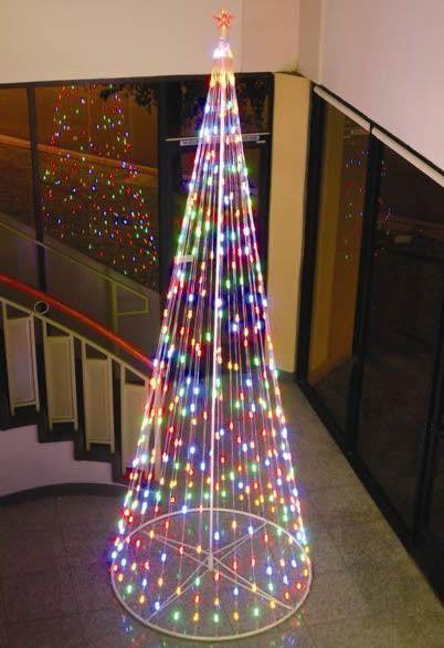 HomeBrite 12 ft. Multi-Color Light Strand Christmas Tree