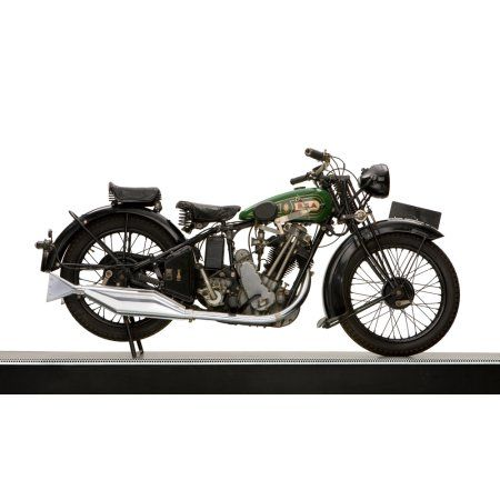1929 BSA Sloper 500cc motorcycle Canvas Art - Panoramic Images (12 x 20)
