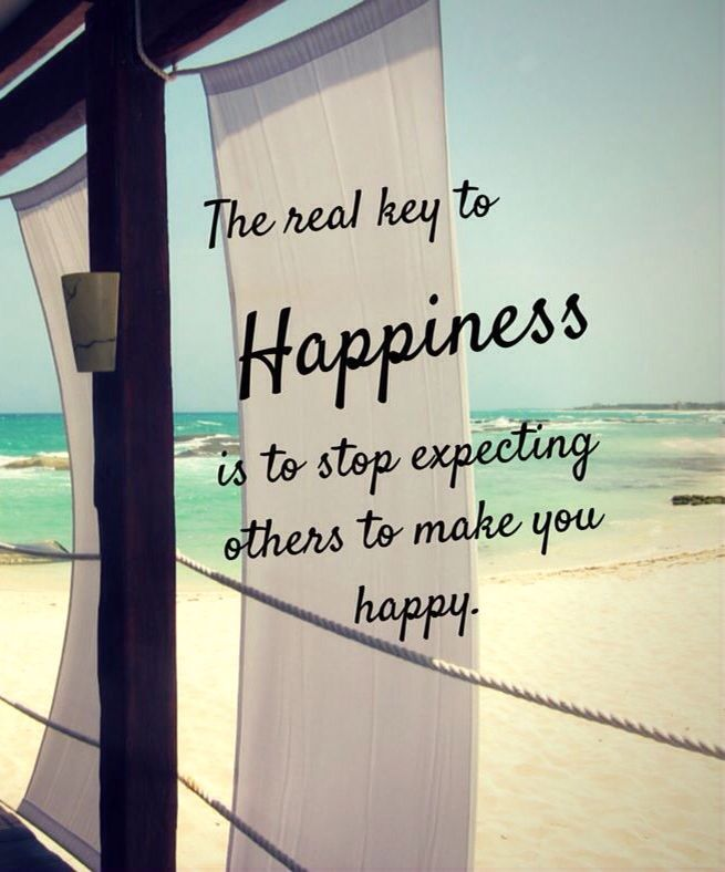 The real key to happiness is to stop expecting others to make you happy. thedailyquotes.com