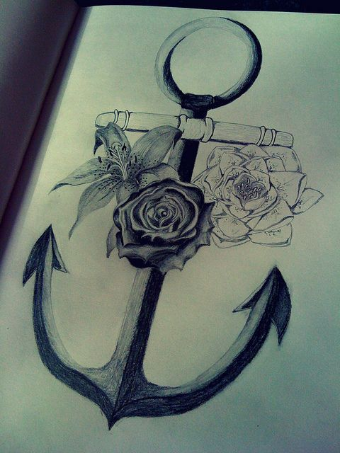Liking the simplicity of the anchor. Minus the flowers.