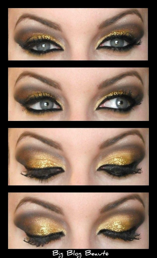 Tuto maquillage yeux verts soiree - Maquillage de soiree yeux marron ...