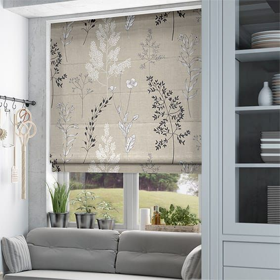 Summer Meadow Stone Roman Blind