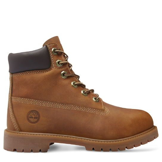 Junior Timberland Authentics 6-Inch Waterproof Boot Brown | www.timberland.co.uk