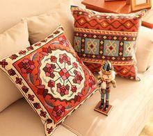 Bordado almohada decorativa cubre sofá de lujo cojín de estilo chino almohada / capas de almofadas bordadas(China (Mainland))
