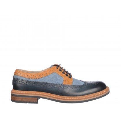 Pantofi Clarks albastri, din piele naturala