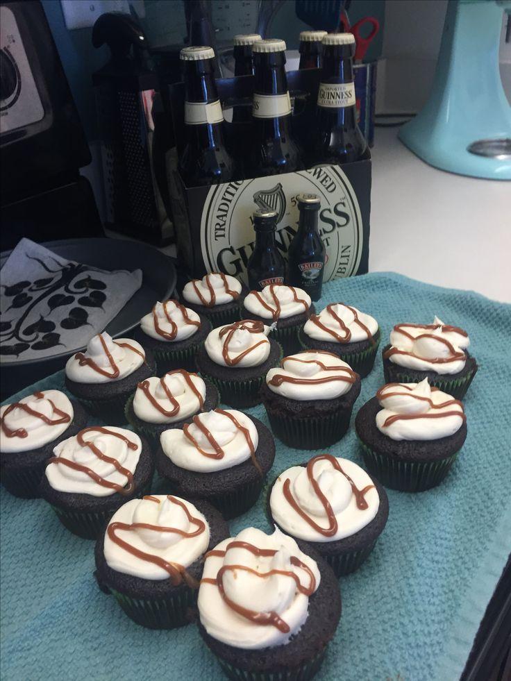 Amazing Guinness Chocolate Cupcakes with a Bailey's Buttercream Frosting for St. Patrick's Day
