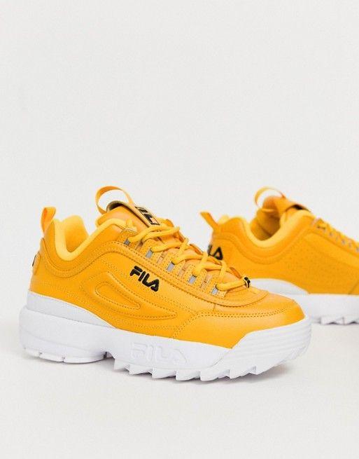 ad45ee3a9 Fila Yellow Disruptor II Premium Trainers in 2019 | Elbise ...