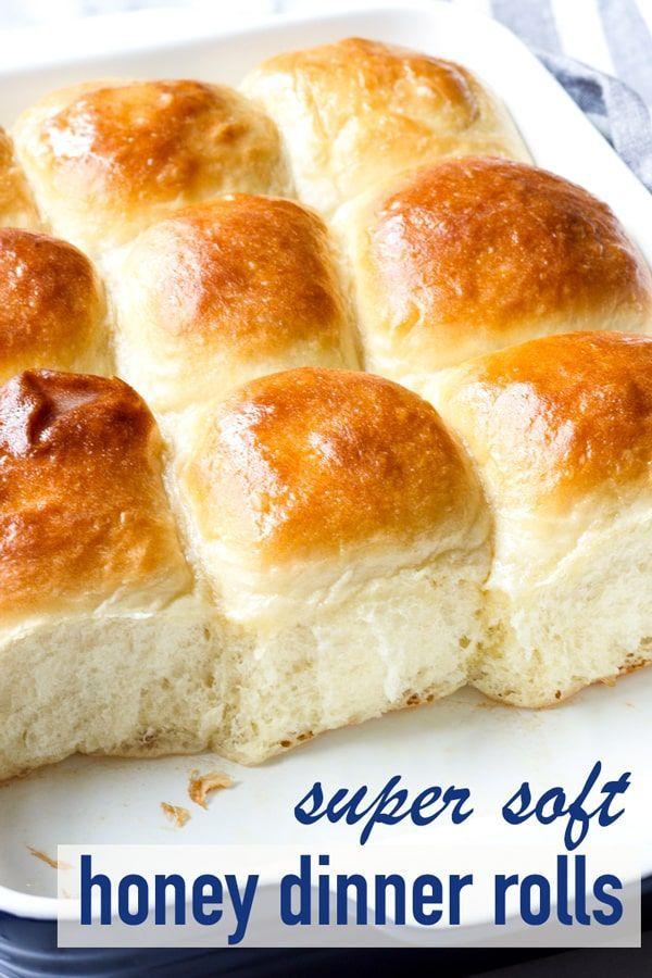Super Soft Honey Dinner Rolls Recipe Baking Pinterest Dinner