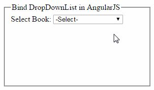 AngularJS: Bind DropDownList text and value using ng-options http://www.webcodeexpert.com/2016/06/angularjs-bind-dropdownlist-value-and_22.html  In this article I am going to explain how to populate HTML dropdown list using ng-options in AngularJs.