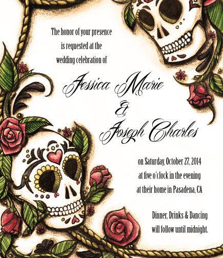 Dia de los Muertos Sugar Skull Wedding by TheContraryCaptain