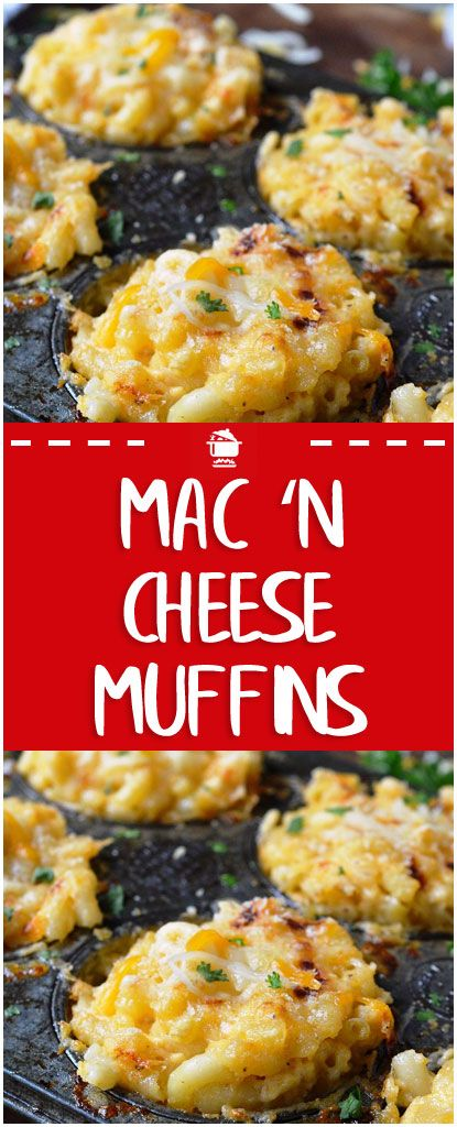 Mac 'n Cheese Muffins – Perfect For The Kiddos #recipes #homecooking   – mac and cheese