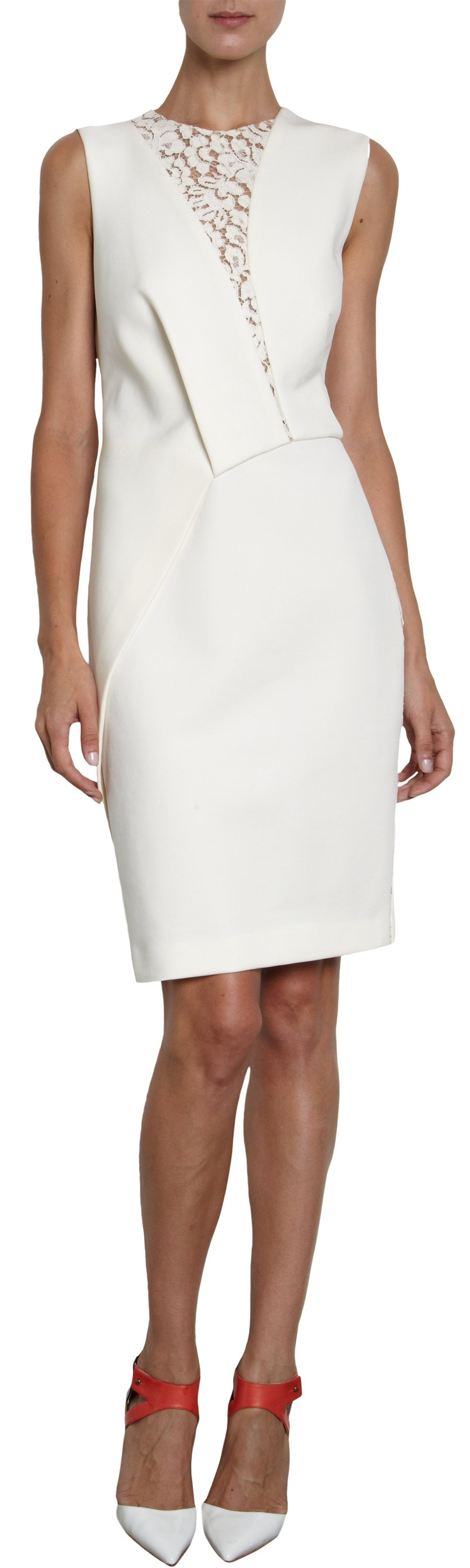 J. Mendel Lace Inset Dress at Barneys.com