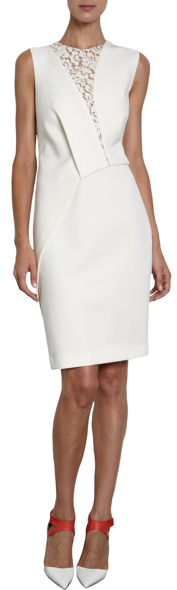 J. Mendel Lace Inset Dress at Barneys.com
