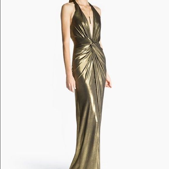 Lame Halter Evening Dresses