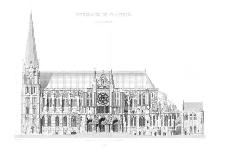 Monografie de la Cathedrale de Chartres - 10 Facade Meridionale - Gravure - Gothic architecture - Wikipedia, the free encyclopedia