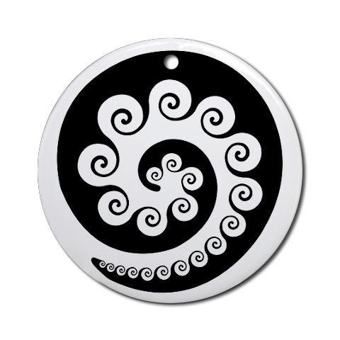 AbOriginalzc Maori Koru Ornament Round New zealand Round Ornament by CafePress