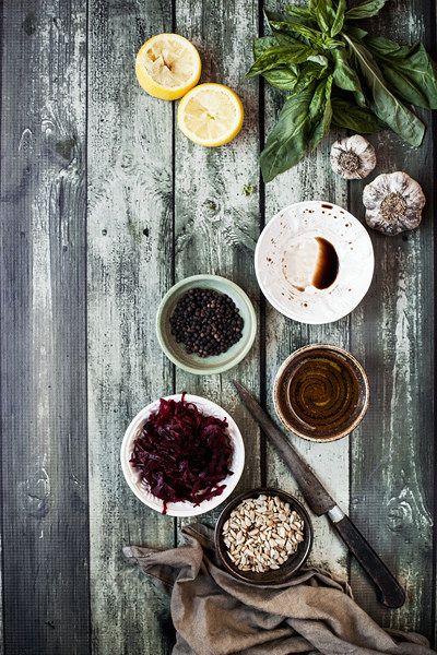 Red Beet Pesto Ingredients