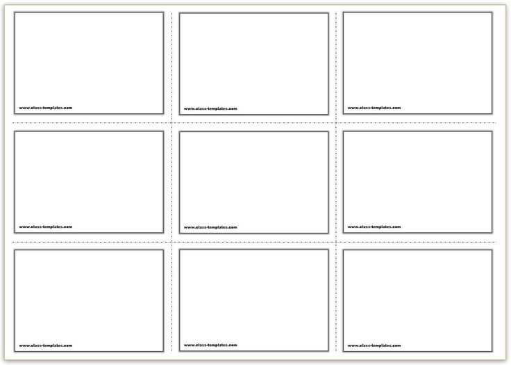 Free printable flash cards template within blank index