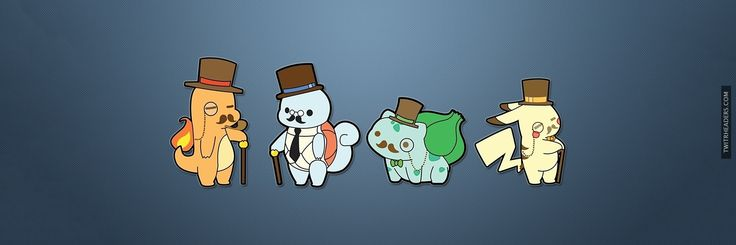 Gentleman Pokemon Twitter Header Cover - TwitrHeaders.com