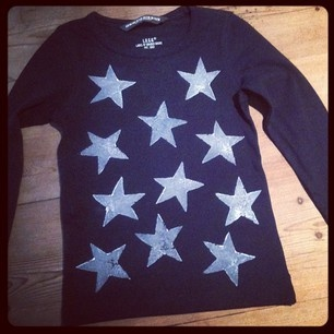 """""""I made this potato print starry night t-shirt made with white DYLON fabric paint. So easy!"""" - by Helen Lewis"""