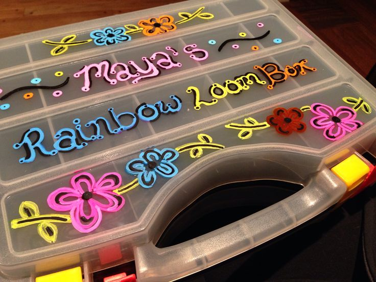 Rainbow loom case from Menards personalized gift