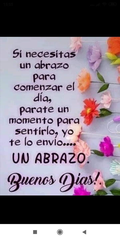 Abrazos Buenos Días Saludos Saludos De Buenos Dias Y Hola