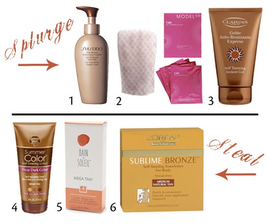 Best sunless tanners-Splurge and Steal