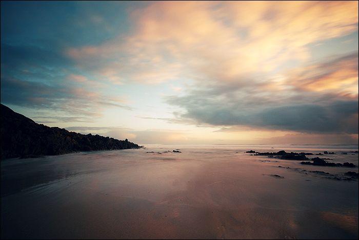 Pose longue sur la plage