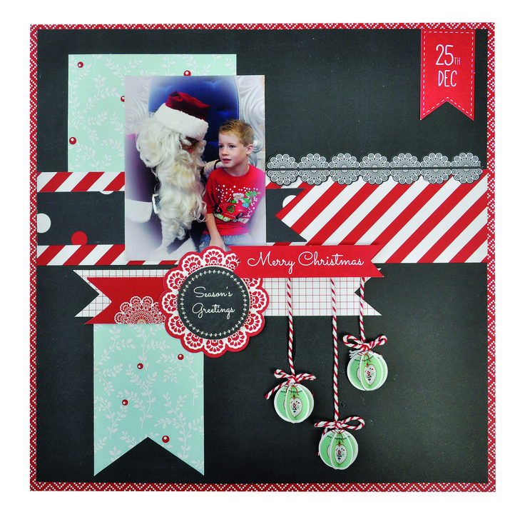 25th December layout by Shirley Towan in North Pole to make yours https://www.kaisercraft.com.au/newsite/projects.php?proj=1977