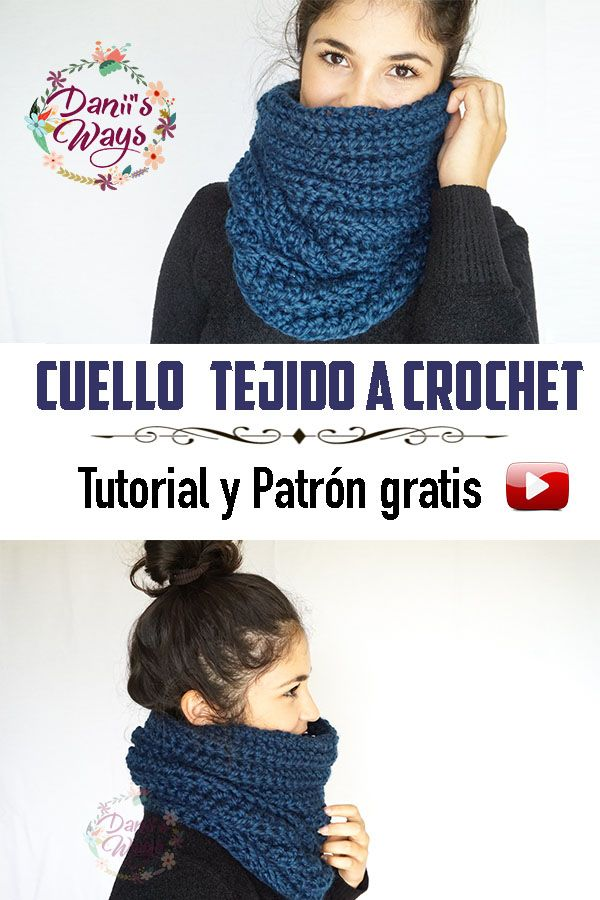 Súper fácil cuello tejido a crochet, video tutorial y patrón gratis ...