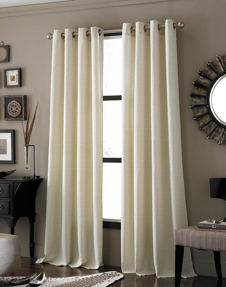 Ivory Lined panel grommet curtain....simple elegant and versatile