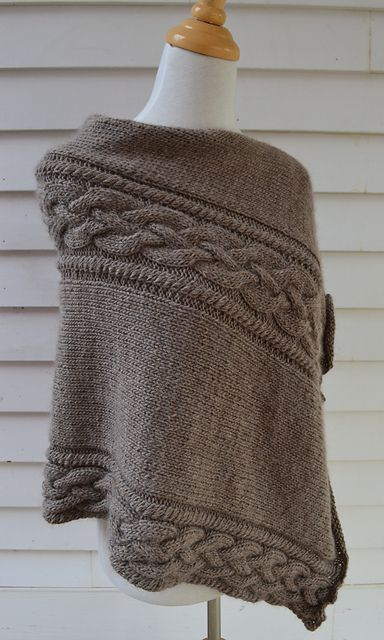 Ravelry: Irish Coffee Poncho pattern by Knit & Pearls