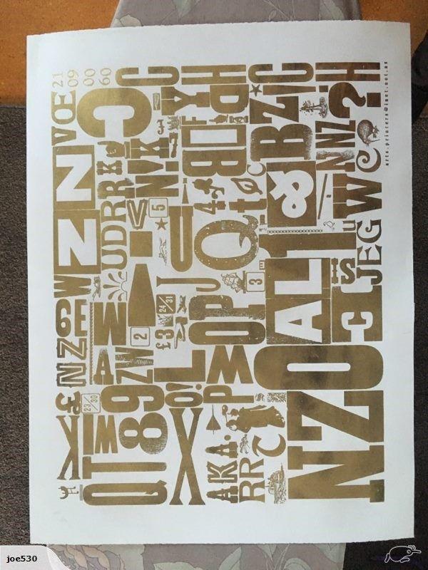Letterpress Print | Trade Me