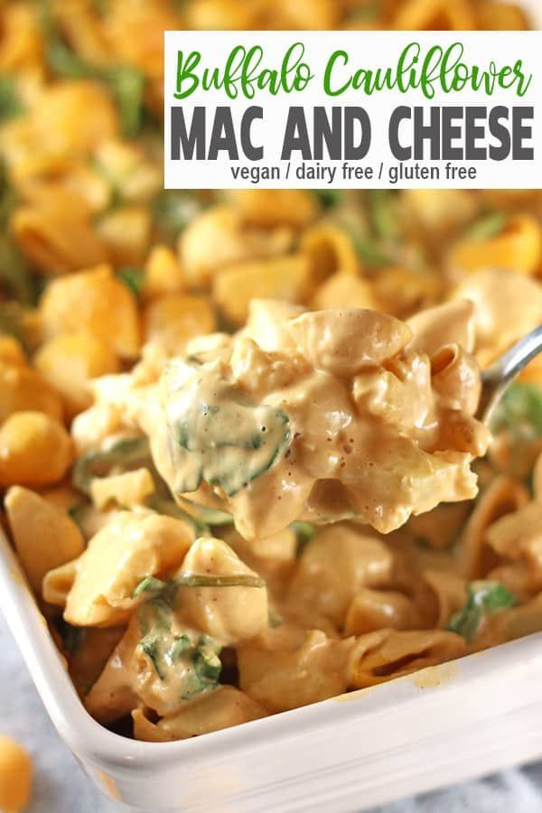 Creamy Vegan Buffalo Mac Cheese Recipe Vegan Comfort Food Vegan Pasta Recipes Whole Food Recipes