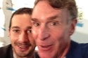 """""""Shia LaBeouf's Joyous Meeting With Bill Nye"""" - Exactly how I would have reacted, only with my crying and bowing"""