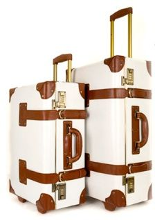 Vintage inspired luggage…with wheels |