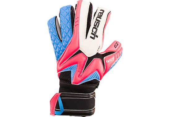 Reusch Pro G2 Ortho-Tec Goalkeeper Gloves - Pink with Ocean Blue...Available at SoccerPro!