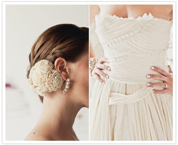 ruffled ivory and white wedding fashion