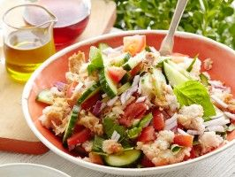 Panzanella (Stale Bread Summer Entree) from CookingChannelTV.com